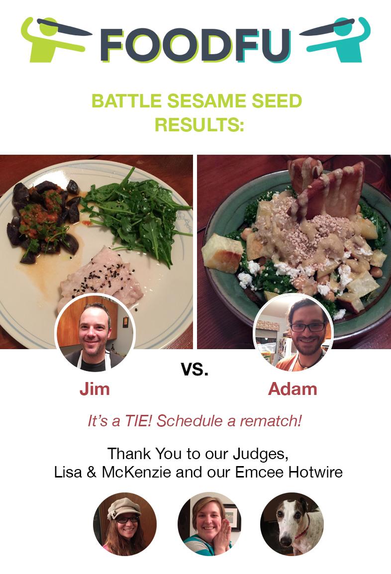 FoodFu Battle Sesame Seed Results
