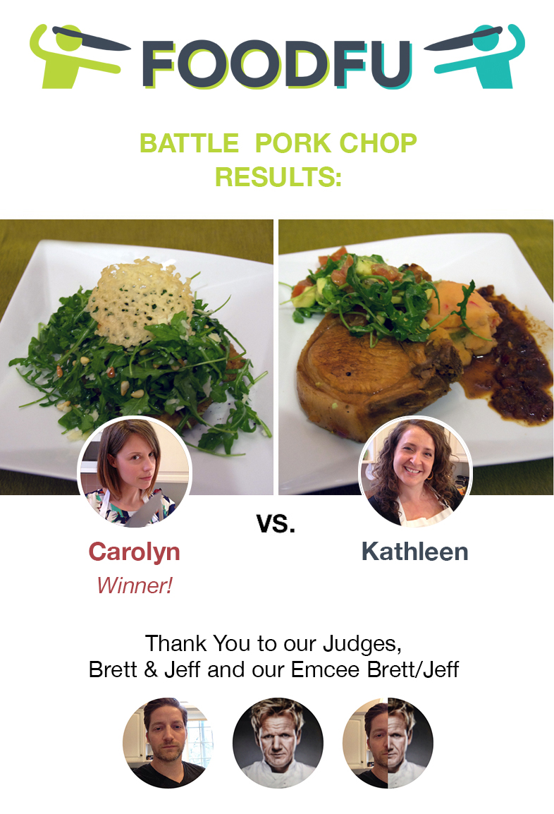 FoodFu Battle Pork Chop Home Cooking Competition Winner