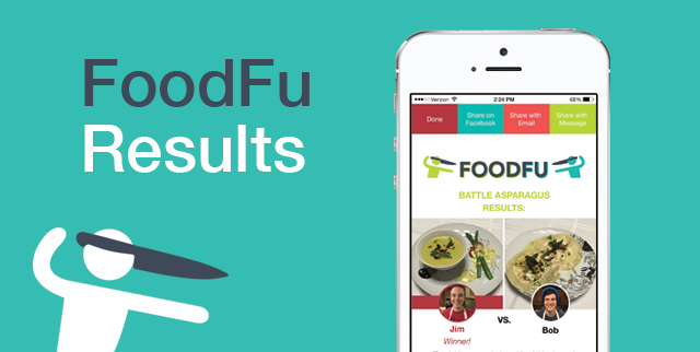 FoodFu Press Kit - Download the FoodFu Food Fight App Battle Screen