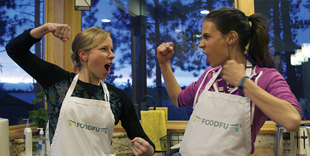 FoodFu Press Kit Two Girls in a Food Fight