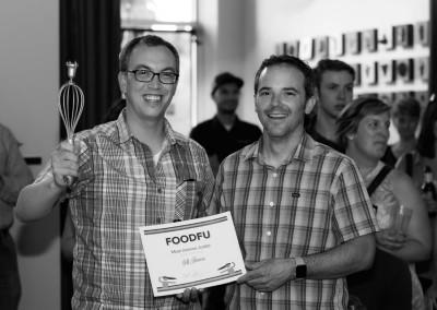 Jeff won the Most Intense Judge award