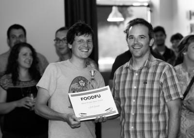 Scott (left) won the Most Prolific Beta Tester award