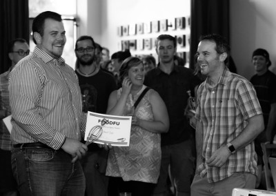 Daniel (left) won the Most Critical Beta Tester award