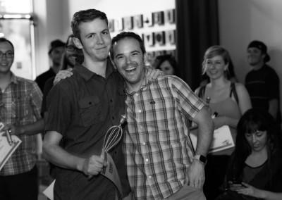 Tim (left) won Most Intense Emcee