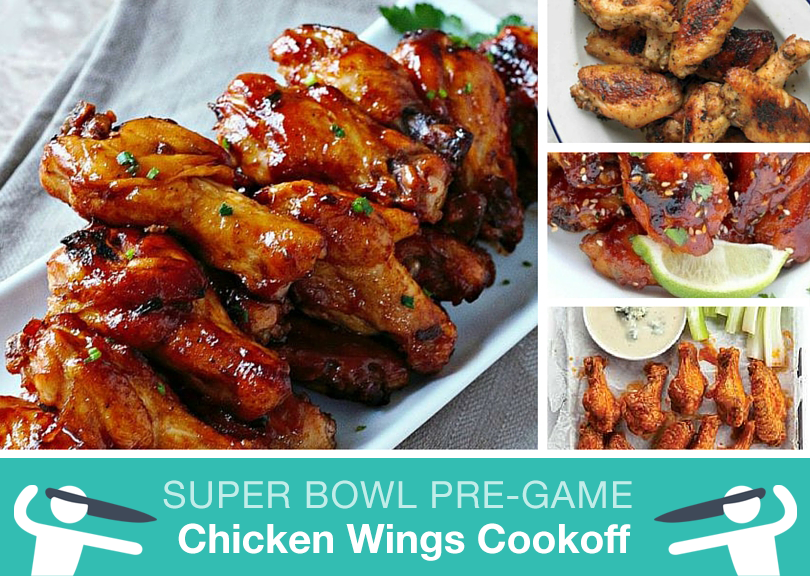 Chicken Wings Cookoff Super Bowl Party Pre-Game